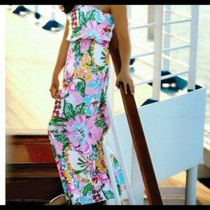 Lilly Pulitzer Target Strapless Floral Maxi Dress